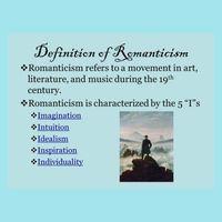 The Basics Of Romantic Literature